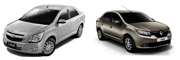 Chevrolet Cobalt и Renault Logan