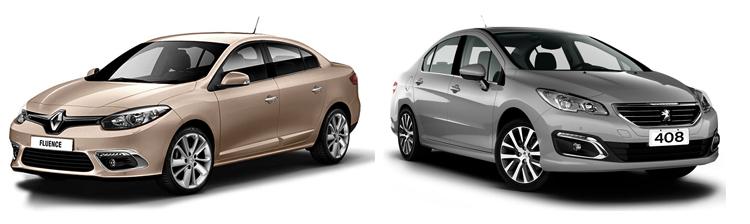 Renault Fluence и Peugeot 408