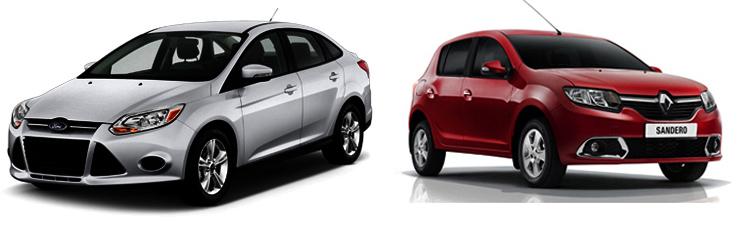 Ford Focus и Renault Sandero