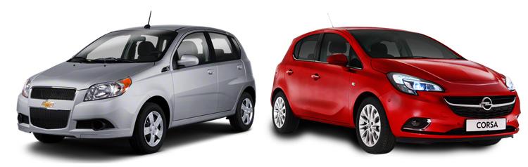 Chevrolet Aveo и Opel Corsa