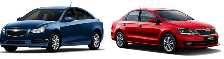 Chevrolet Cruze и Skoda Rapid