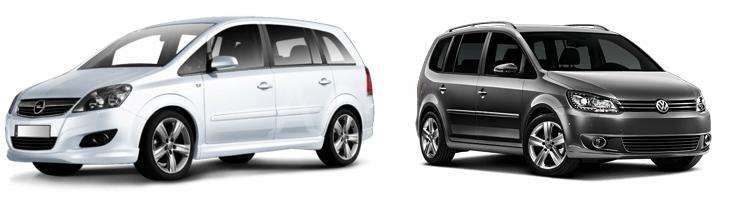 Opel Zafira и Volkswagen Touran