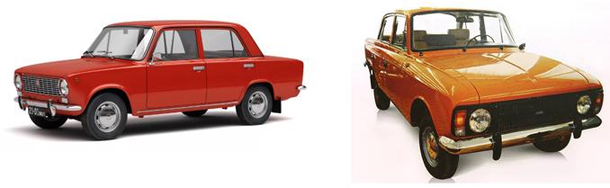 ВАЗ-2101 и Москвич-412