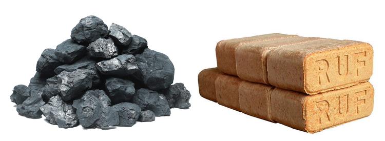 уголь и топливные брикеты