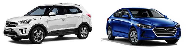 Hyundai Creta и Hyundai Elantra