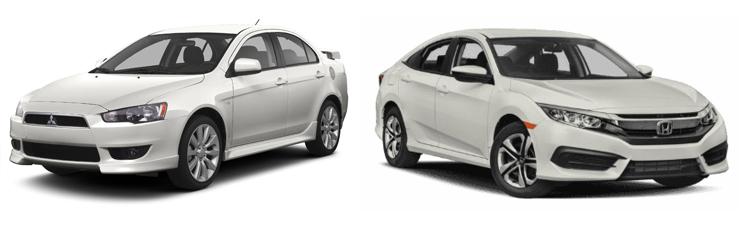 Mitsubishi Lancer и Honda Civic
