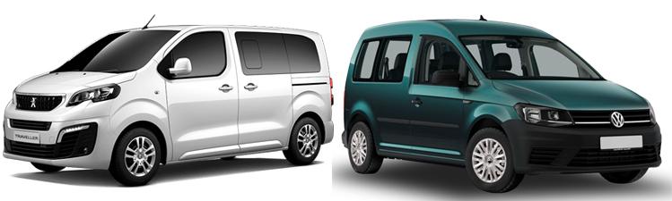 Peugeot Traveller и Volkswagen Caddy