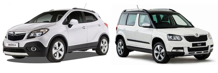 Opel Mokka и Skoda Yeti