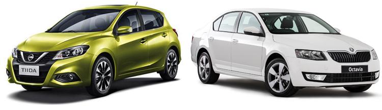 Nissan Tiida и Skoda Octavia
