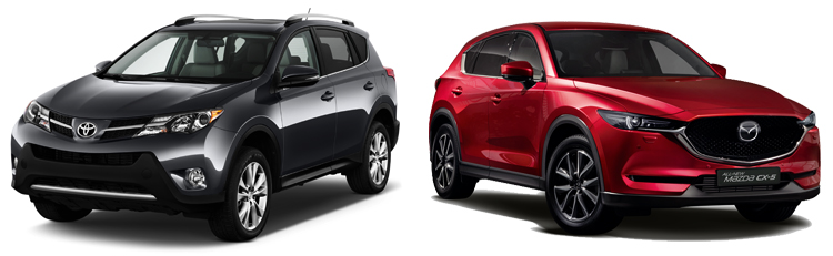 Toyota RAV4 и Mazda CX-5