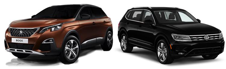 Peugeot 3008 и Volkswagen Tiguan