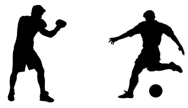 Бокс и футбол