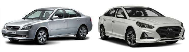 Kia Magentis и Hyundai Sonata