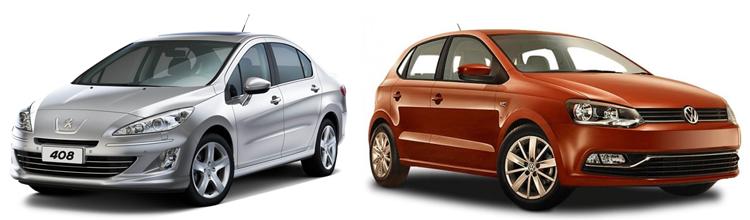 Peugeot 408 и Volkswagen Polo