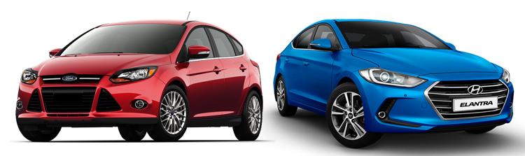 Ford Focus и Hyundai Elantra