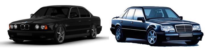 BMW E34 и Mercedes-Benz W124