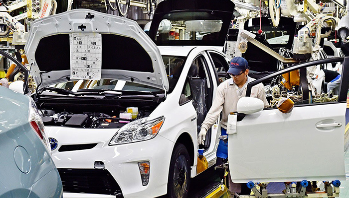 Сбор автомобилей Toyota