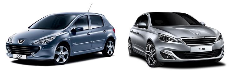 Peugeot 307 и Peugeot 308