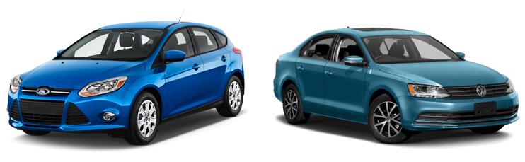 Ford Focus и Volkswagen Jetta