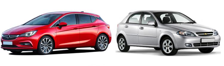 Opel Astra и Chevrolet Lacetti