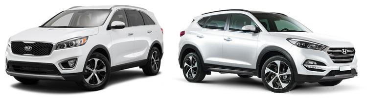Kia Sorento и Hyundai Tucson