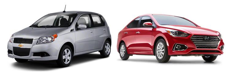 Chevrolet Aveo и Hyundai Solaris