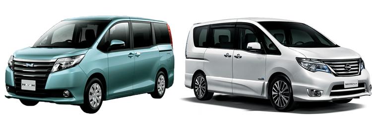 Toyota Noah и Nissan Serena