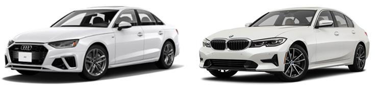 Audi A4 и BMW 3