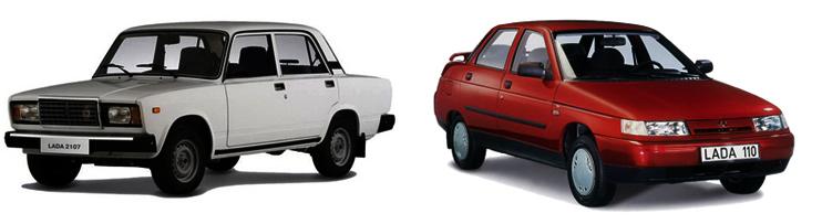 ВАЗ-2107 и ВАЗ-2110