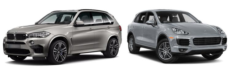 BMW X5 и Porsche Cayenne