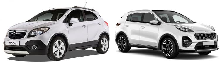 Opel Mokka и Kia Sportage