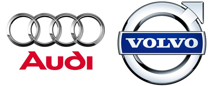 Audi и Volvo