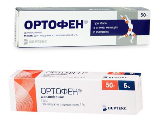 Мазь и гель Ортофен